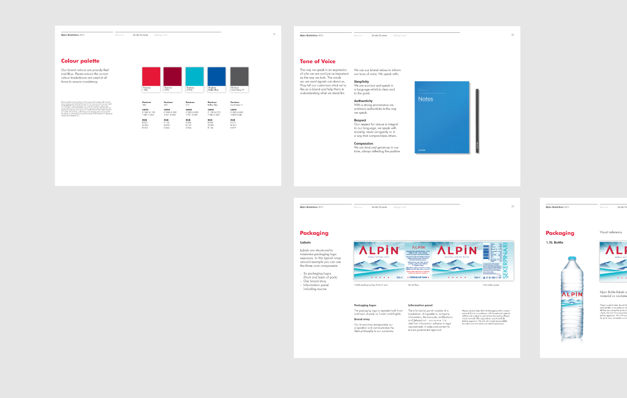 alpin brand guidelines eight branding rh eightbranding co uk brand packaging guidelines pdf Brand Guideline Writing